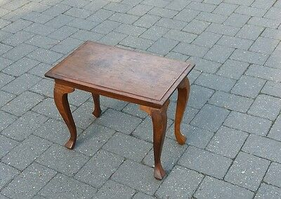 Decorative wooden small side table (POOLE, DORSET)