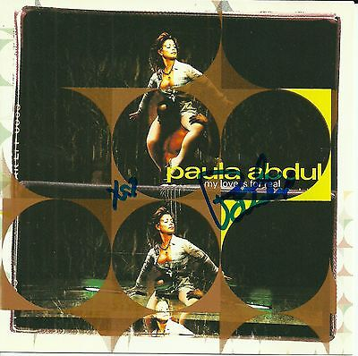 Paula Abdul signed My Love is For Real cd single