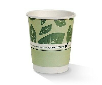 NEW  8oz PLA coated DW Cup / green print