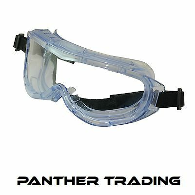 Silverline Blue Tinted Lightweight Panoramic Splash Proof Safety Goggles -140903