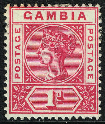 SG 38 GAMBIA 1898 - 1d CARMINE - MOUNTED MINT