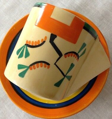 Rare Art Deco Clarice Cliff Cup And Saucer.