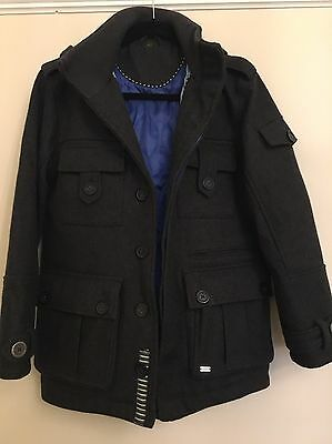 Ted Baker Boys Hooded Charcoal Grey Duffle Coat -Age 13