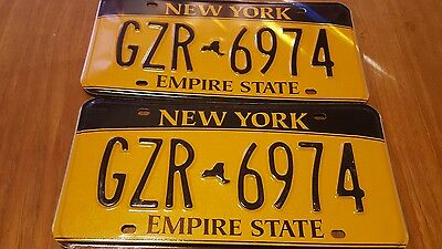 Set of New York Licence Plates GZR 6794 / Empire State / Man Cave / Bar