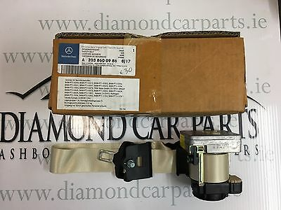 Brand New Genuine Mercedes C-Class W203 Front Left Side Seat Belt A2038600986