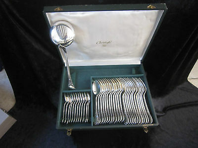 Rare Menagere 37 Pieces En Metal Argente Christofle Modele Marly