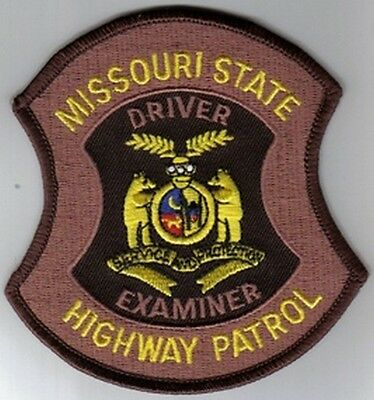 Missouri Highway Patrol Mhp Driver Examiner Patch Bear Service Miss State Police