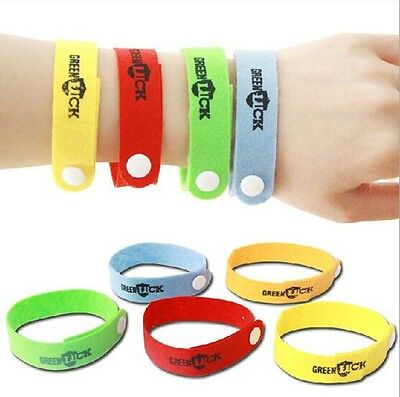 5pcs MOSQUITO BUG REPELLENT WRIST BAND BRACELET INSECT BUG LOCK CAMPING MOZZ