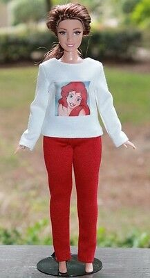 """Clothes for Curvy Barbie Doll. Blouse """"Mermaid"""" and leggings for Dolls."""