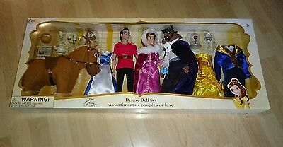 Disney Store Beauty and the Beast Deluxe Doll set New!