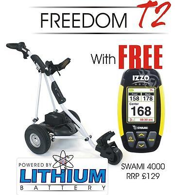 Powerhouse Freedom T2 18-Hole Lithium Battery Electric Golf Trolley