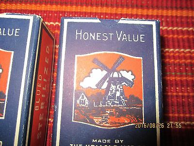 2  vintage boxes  Honest Value tacks