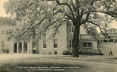 Library, A&m College, College Heights, Arkansas, Vintage Postcard