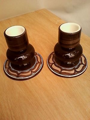 Pair of Jersey Pottery Candle Sticks