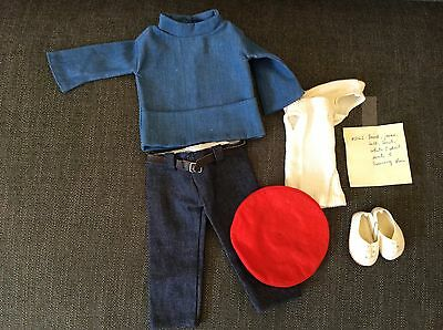 SASHA DOLL - Sailing suit #216S BRAND NEW includes smock, jeans, beret etc.