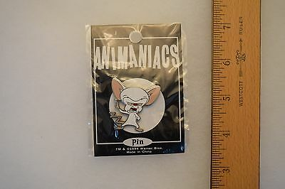 """Brain Pin from Pinky and the Brain Animaniacs Warner Bros. New in package. 1.5"""""""