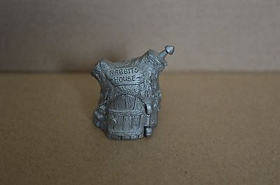 Pewter collectable thimble rabbit house TCC Collectors Club