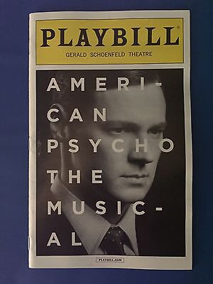 Playbill- American Psycho The Musical