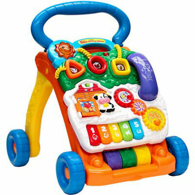 Baby Learning Walker Gear Toys Play Sit Stand Boy Girl Infant VTech Toddler Fun