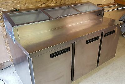 Foster 3 Door Stainless Steel Pizza/Salad Topping Fridge with Counter