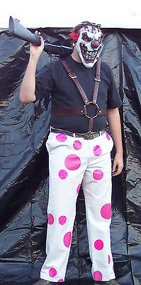 Sweet Tooth full costume Deluxe upgraded mask suspenders clown pants twisted