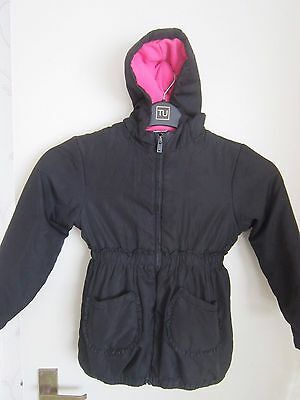 George girls black and pink jacket size 5-6yrs