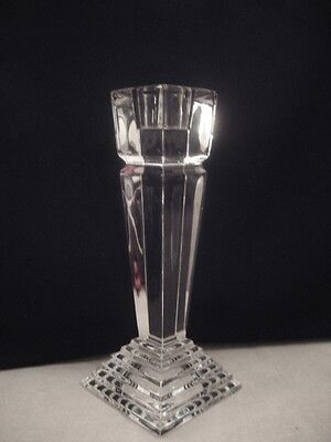 """'lenox' Crystal Single Candlestick, Monument Pattern. 6"""" Tall, Unboxed"""
