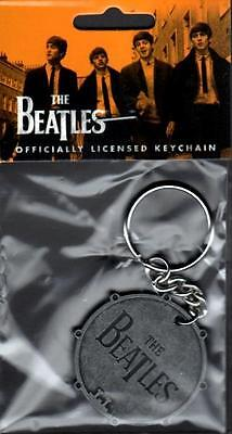 The Beatles : Bass Drum Metal Keyring (new & sealed / official merchandise)