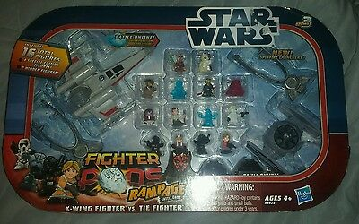 Star Wars Fighter Pods Rampage X-Wing vs. Tie Fighter New 16 Figures Series 3