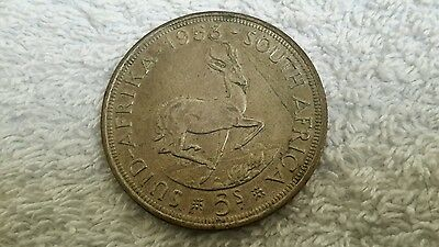 1953 Suid Afrika 5s Silver coin.