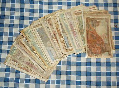 36 banknotes of France - no reserve
