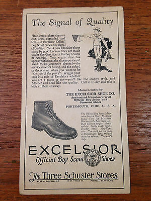 Antique Boy Scout Shoes Advertising  Card And Signal Card