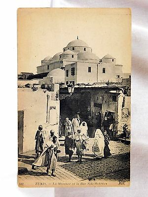 Circa 1910-20 Tunis Middle East, Rue Sidi-Mahrez Mosque Unused P27