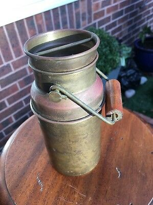 Vintage French Brass And Copper Milk Churn