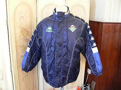 real betis kappa jacket football coat size L official pro equipment vintage