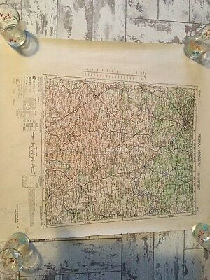 Moscow. Europe  Ordinance Survey Map Paper Rolled Reprint Of 1st Edition