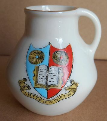 Arcadian Crested China Jug, Lutterworth, 1920's?