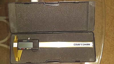 Digital caliper 6 inch  stainless steel rare alloy CRAFTSMAN / NO RESERVE