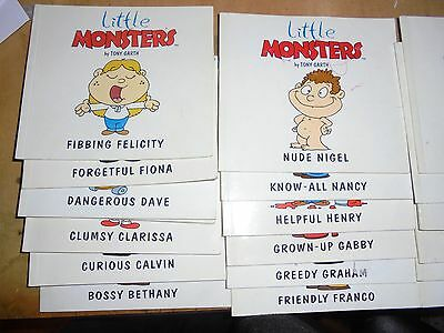 25 Little Monsters books by Tony Garth