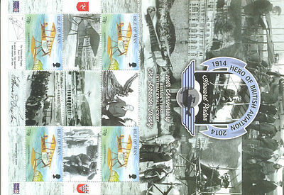 Isle of Man-British Aviation 100 years planes-special min sheet mnh