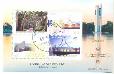 Australia-Canberra Stamp Show min sheet 2016 f.used