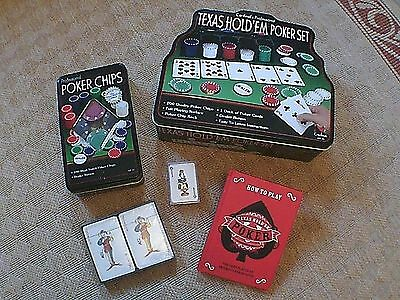 Cardinal's Professional Texas Hold'Em POKER Set + 100 chips : book & extra cards