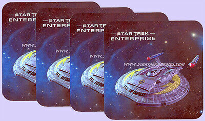 FOUR COASTERS SET Star Trek: Enterprise ISS NX-01 from the MIRROR UNIVERSE!