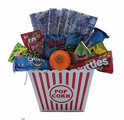 Ultimate Movie Night Gift Bundle Care Package, Easter Basket, Popcorn, Candy,