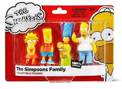The Simpsons Family Five Figures Set - New - Horner, Marge, Bart, Lisa & Maggie