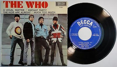 """The Who-""""a Legal Matter""""+3 Super Rare 7"""" Ep Spanish First Pressing1966 Mod Spain"""