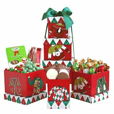 California Delicious Holiday Ugly Sweater Gift Tower