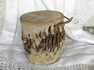 Decorative African Tribal Drum in Animal Skin/hide with rattle VGC
