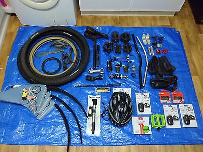Job Lot Of Mountain Bike Cycling Parts & Accessories Used And New Items.