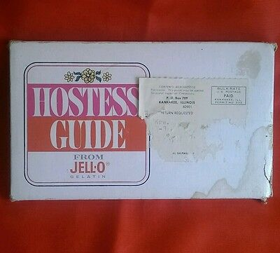 HOSTESS GUIDE JELL-O GELATIN CARDS BOX GENERAL FOODS CORP 7845 1st EDITION USA